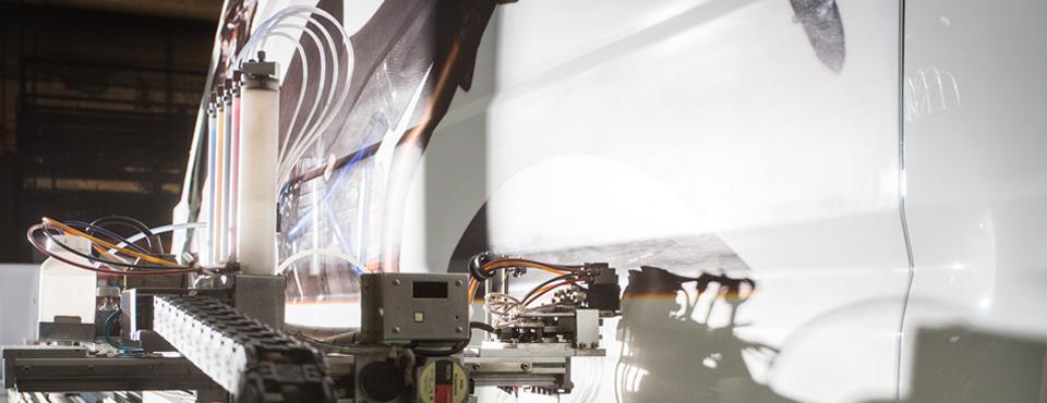 Stampa aerografata con Artrobot Michelangelo 4.5 nv